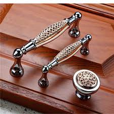 kitchen cabinet door hardware decorative drawer pulls crystal
