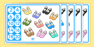 themed posters counting in 2s shoe themed display posters counting in 2