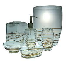Glass Bathroom Accessories Sets Sea Glass Bathroom Accessories Sea Urchin Bath Accessories