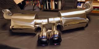 porsche boxster 987 exhaust jic cross titanium tip exhaust system