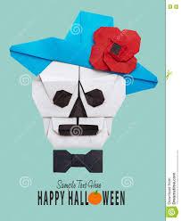 origami halloween origami skull in hat stock photo image 77671024