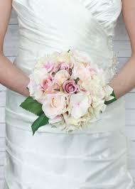 bridesmaid bouquet pink hydrangea bouquet silk wedding flowers