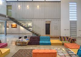 8 shipping containers make up a stunning 2 story home view in gallery stunning 2 story home 8 shipping containers 9