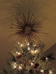 tree topper starburst custom handmade retro modern