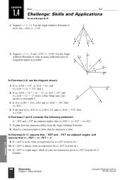 eleven angle addition postulate and adjacent angle problems 9th