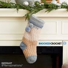 pop crochet christmas stocking crochet pattern yarnspirations