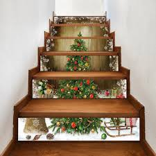 Christmas Railing Decorations Christmas Stair Sticker Cheap Casual Style Online Free Shipping At