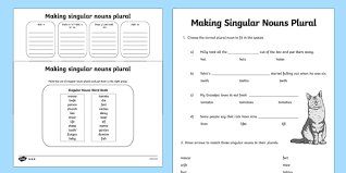 awesome collection of making words plural worksheets in free