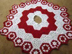 snowflake christmas tree skirt tree skirts crochet and