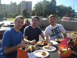thanksgiving dinner helps asu students feel at home for the