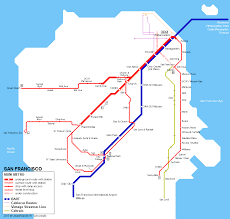 Bart Route Map by Urbanrail Net U003e North America U003e Usa U003e California U003e San Francisco