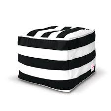 Bean Bag Chair With Ottoman Striped Outdoor Square Bean Bag Ottoman U2013 Black White Available