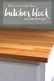136 best kitchen refresh images on pinterest kitchen ideas how to finish ikea butcher block countertops
