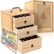 essential box wooden storage with handle