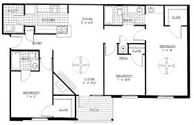 three bedroom flat floor plan architectural drawings plan of three bedroom flat small layout