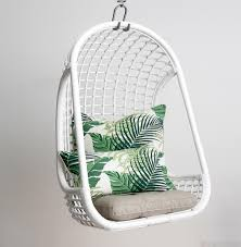 white hanging chair modern chairs quality interior 2017
