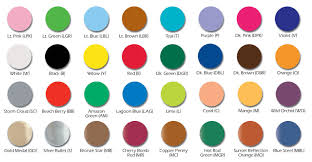 color charts for make up and face paints