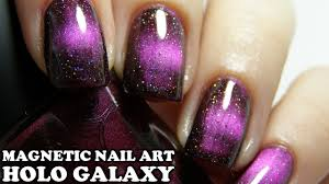magnetic holographic galaxy nail art tutorial with masura
