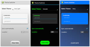 eclipse theme switcher developing custom themes codepath android cliffnotes
