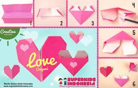 cara membuat origami hello kitty 3d love origami creative weekend superkids indonesia creative
