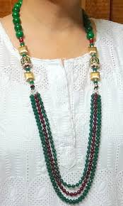 indian beads necklace images Indian kundan statement necklace onyx beads statement necklace jpg