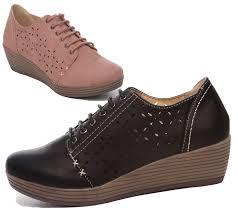 Comfortable Wedge Pumps Womens Ladies Low Wedge Heel Casual Comfort Office Work Summer