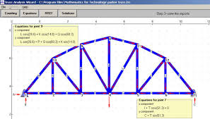 mathonweb truss analysis