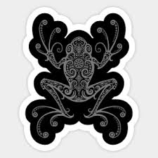 tribal tree frog stickers teepublic