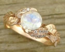 Moonstone Wedding Ring by Rose Gold Moonstone Vintage Style Engagement Ring Rose Gold