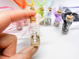 cork bottle charm mini art gallery message in a glasss necklace