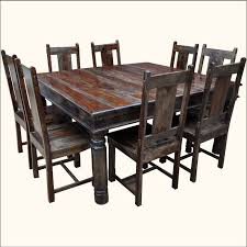 large square dining room table richmond rustic solid wood large square dining room table chair set