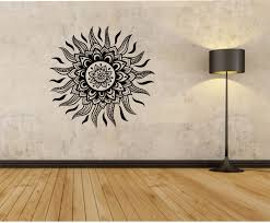sun wall decal mandala flower sun sticker art decor bedroom design sun tribal vinyl wall decal sticker art decor bedroom design mural hawaii by stateofthewall on etsy