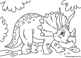 cute little triceratops dinosaur coloring page dinosaur coloring