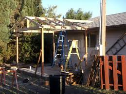 How To Build A Wood Awning Over A Deck How To Build Your Own Covered Deck Dengarden