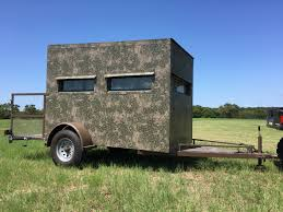 5x9 hunting trailer blinds atascosa wildlife supply texas deer 5 9 trailer blind bushlan