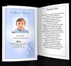 baby funeral program planning memorials for children funeral services for a child