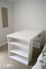 Scrapbooking Tables Desks Diy Craft Table 4 Walmart Shelves And Two Doors Crafts To