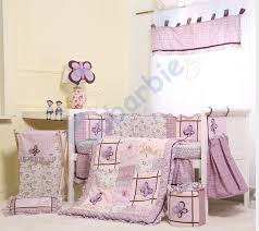 Purple Nursery Bedding Sets 6 Pc Baby Bedding Set Summer Baby Crib Bedding Cotton Baby