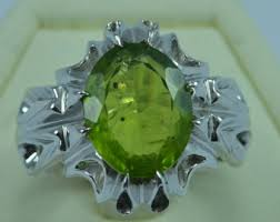 silver ring for men islam sterling silver peridot men ring shia islam