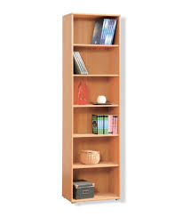 Narrow Bookcases Uk by Tempra Tall Narrow Beech Bookcase Bookshelf Home Office Furniture