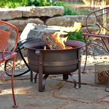 Heavy Duty Patio Furniture Covers - 23 inch heavy duty steel fire pit cauldron with stand and cover