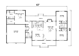 100 one story house plans with two master suites plan