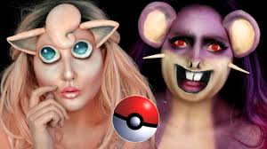 pokemon jigglypuff u0026 rattata halloween makeup tutorial youtube