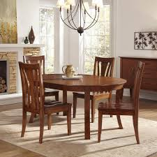 Overstock Dining Room Tables by Round Dining Room Tables With Leaf Brownstone 56 Inside Design For