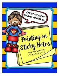 behavior charts printable sticky note template notes template