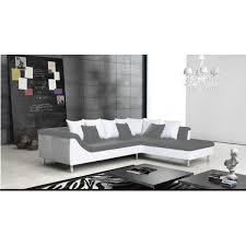 canape cuir angle droit canapé d angle 5 places gris mercure meubles line