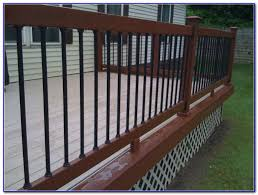 decking aluminum balusters giving your deck upgraded style