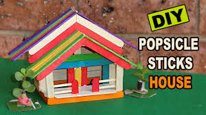 diy popsicle sticks house 8 easy steps crafts ideas youtube