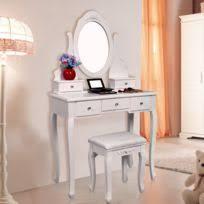 coiffeuse blanche si e avec miroir inclus rocambolesk superbe coiffeuse table blanche de maquillage grand