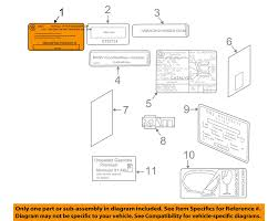 bmw oem 10 15 760li labels certification info label 71212122606 ebay